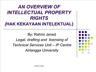 AN OVERVIEW OF INTELLECTUAL PROPERTY RIGHTS  HAK KEKAYAAN INTELEKTUAL