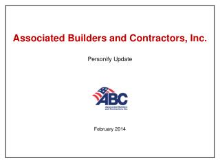 Associated Builders and Contractors, Inc. Personify Update