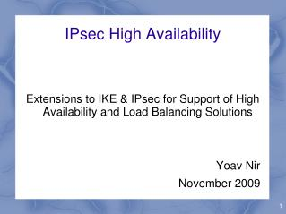 IPsec High Availability