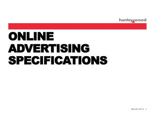 ONLINE  ADVERTISING  SPECIFICATIONS