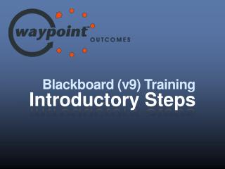 Blackboard (v9) Training