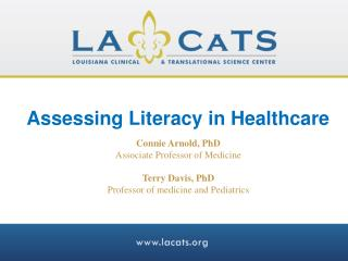 Assessing Literacy in Healthcare