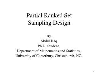 Partial Ranked Set Sampling Design