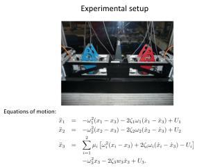 Experimental setup