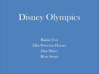 Disney Olympics