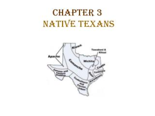 Chapter 3 Native Texans