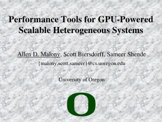 Performance Tools for GPU-Powered Scalable Heterogeneous Systems