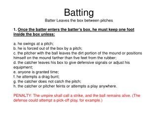 Batting Batter Leaves the box between pitches