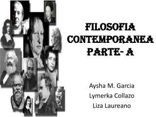 Filosofia Contemporanea parte- a