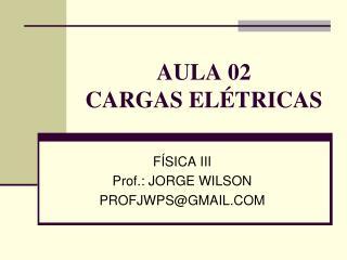 AULA 02 CARGAS ELÉTRICAS