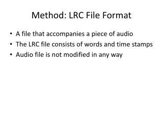 Method: LRC File Format