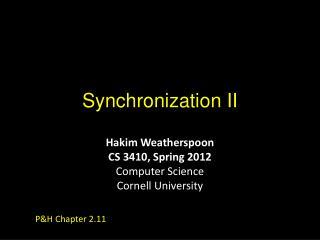 Synchronization II