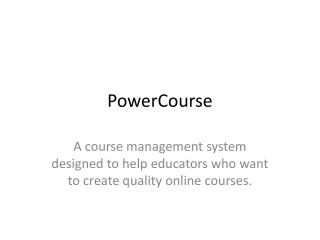 PowerCourse