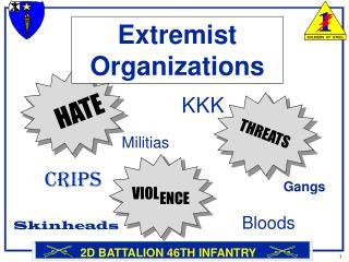 Extremist Organizations
