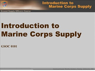 Introduction to Marine Corps Supply   GSOC 0101