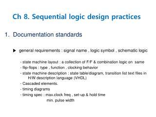 Ch 8. Sequential logic design practices