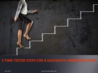 5 TIME-TESTED STEPS FOR A SUCCESSFUL MARKETING PMO