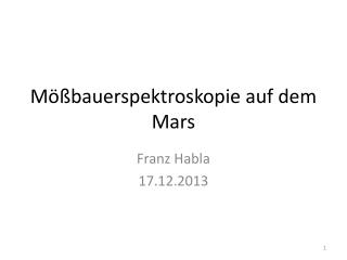 M��bauerspektroskopie auf dem Mars