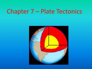 Chapter 7 – Plate Tectonics