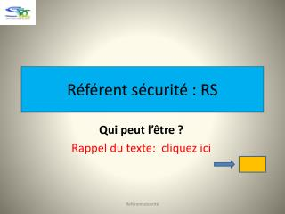 R�f�rent s�curit� : RS
