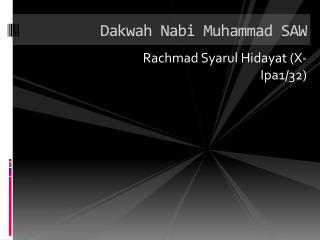 Dakwah Nabi Muhammad SAW