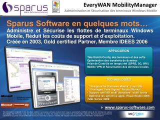 EveryWAN MobilityManager  Administration et Sécurisation des terminaux Windows Mobile