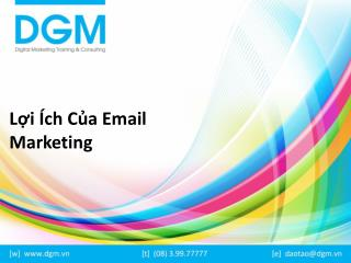 Lợi ích của email markeing