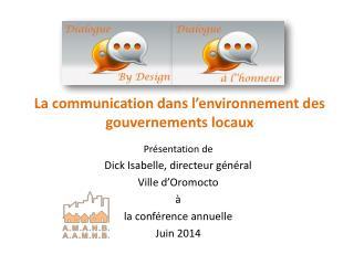 La communication dans l'environnement des gouvernements locaux