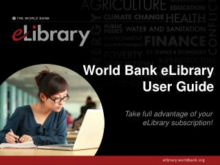 World Bank eLibrary User Guide