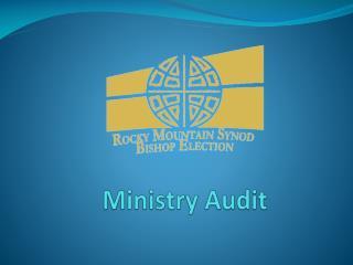 Ministry Audit