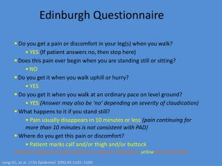 Edinburgh Questionnaire