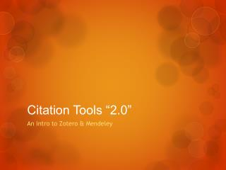"Citation Tools ""2.0"""