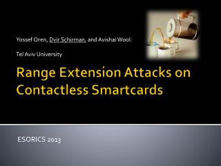 Range Extension Attacks on Contactless Smartcards
