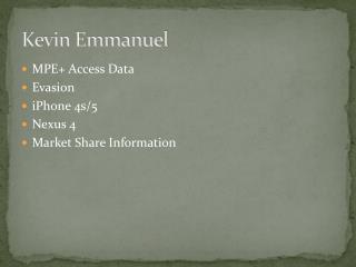 Kevin Emmanuel