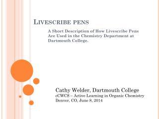 Livescribe  pens