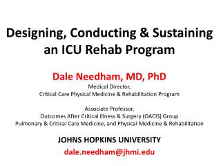Why ICU  Rehab?  A  patient  view…