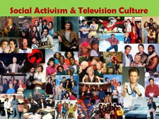 Social Activism & Television  Culture