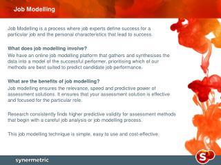 Job Modelling