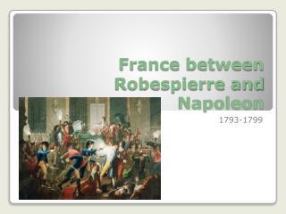 relationship between robespierre and napoleon
