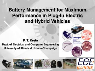 Battery Management for Maximum Performance in Plug-In Electric and Hybrid Vehicles