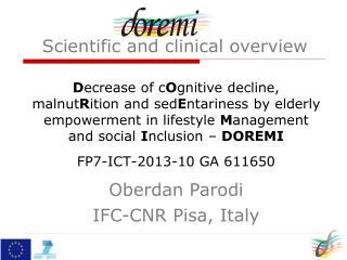 Oberdan Parodi IFC-CNR Pisa, Italy