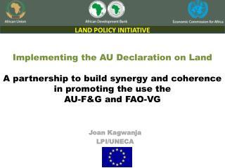 Joan  Kagwanja LPI/UNECA