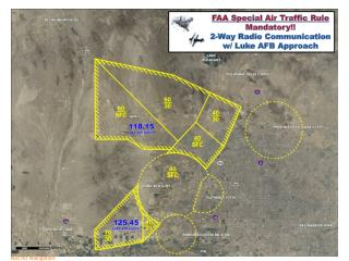 FAA Special Air Traffic Rule Mandatory !!  2-Way Radio Communication w/ Luke AFB Approach