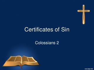Certificates of Sin