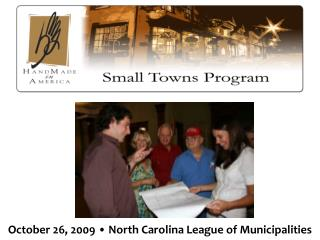 October 26, 2009 • North Carolina League of Municipalities