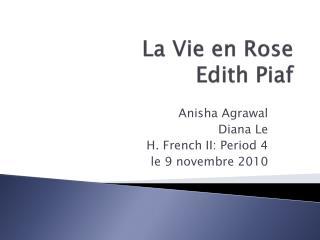La Vie en Rose Edith Piaf