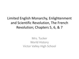Mrs. Tucker World History Victor Valley High School
