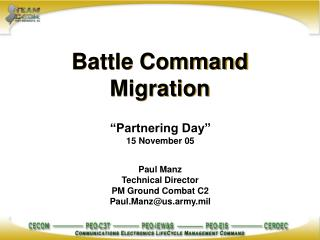 Battle Command Migration