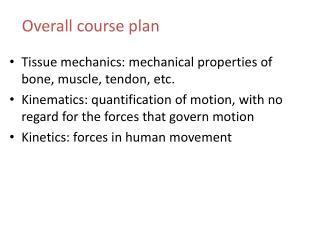 Tissue mechanics: mechanical properties of bone, muscle, tendon, etc.