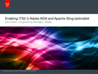 Enabling ITS2 in Adobe AEM and Apache Sling/Jackrabbit